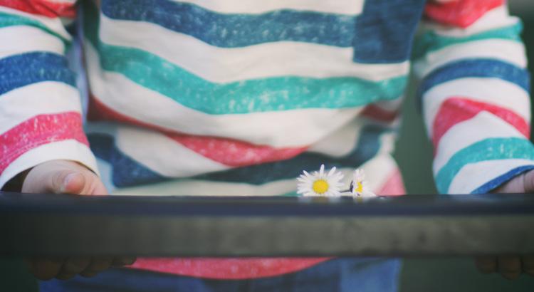 flores en un columpio